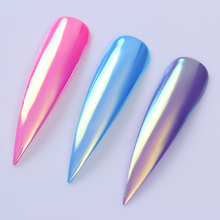 1Box 0.2g Neon Unicorn Powder Chameleon Mermaid Powder Mirror Effect Nail Art Dust Chrome Pigment Manicure Decorations