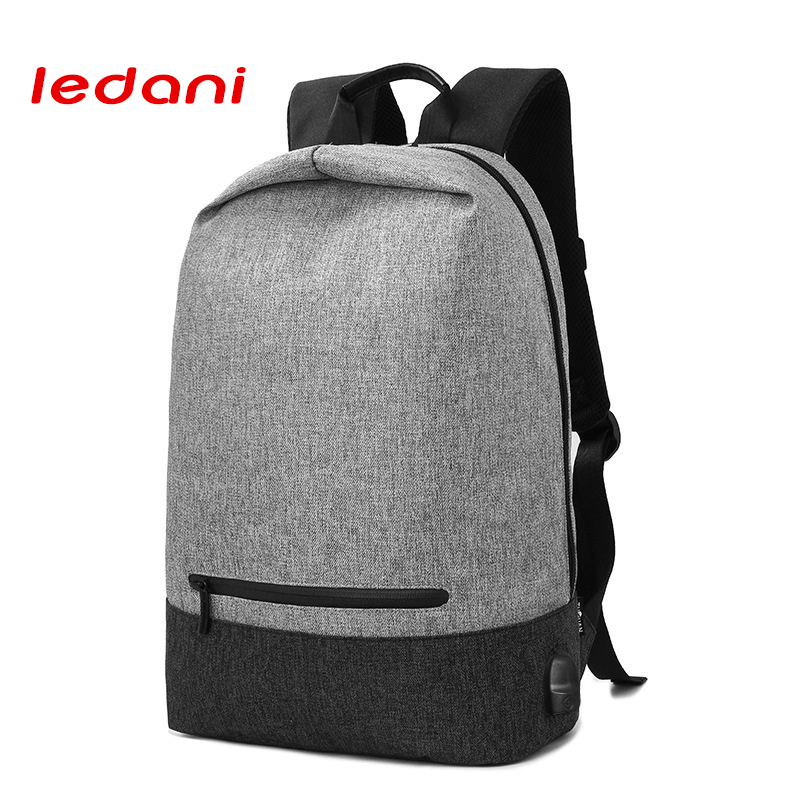 LEDANI Brand External USB Charge Computer Backpack Anti Theft Laptop Bag Multifunction  Leisure Travel Backpacks Men School Bags