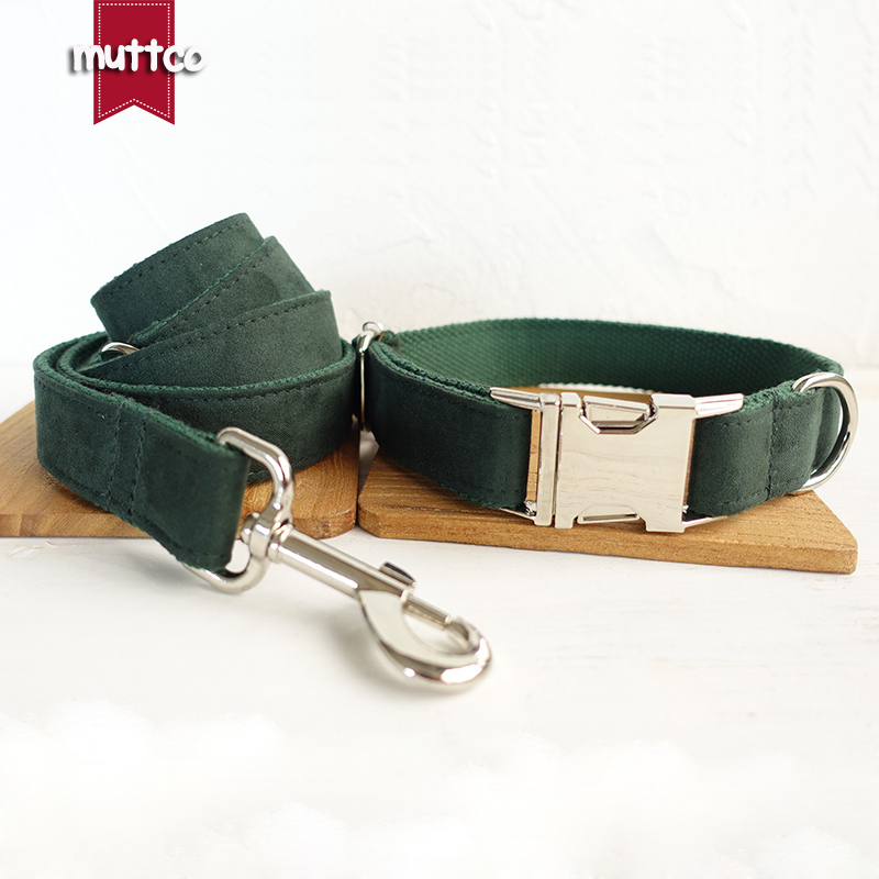 MUTTCO retailing high quality dog collar for dog THE GREEN DAY creative design dog collars and leashes 5 sizes UDC019