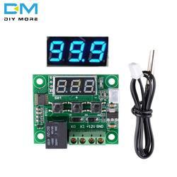 W1209 DC 12 В синий светодиодный цифровой термостат для контроля температуры термометр термо управление Лер модуль коммутатора + NTC сенсор