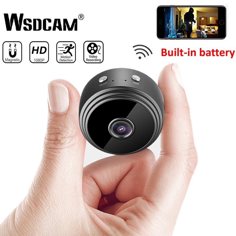 Mini Câmera Wi-fi 1080 P Câmera IP Sem Fio HD P2P Pequeno Micro Cam Motion Detection Night Vision Home Security Monitor filmadoras