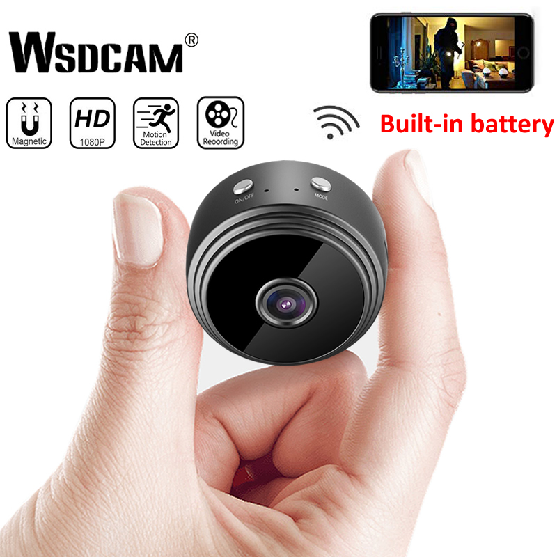 Mini câmera wifi 1080 p hd sem fio ip p2p câmera pequena micro cam detecção de movimento visão noturna casa monitor de segurança filmadoras