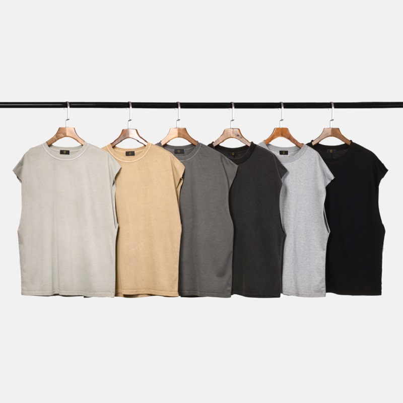 QoolXCWear High Street vest oversized   tank     top   men hip hop vest Sleeveless funny men Loose style tee shirt