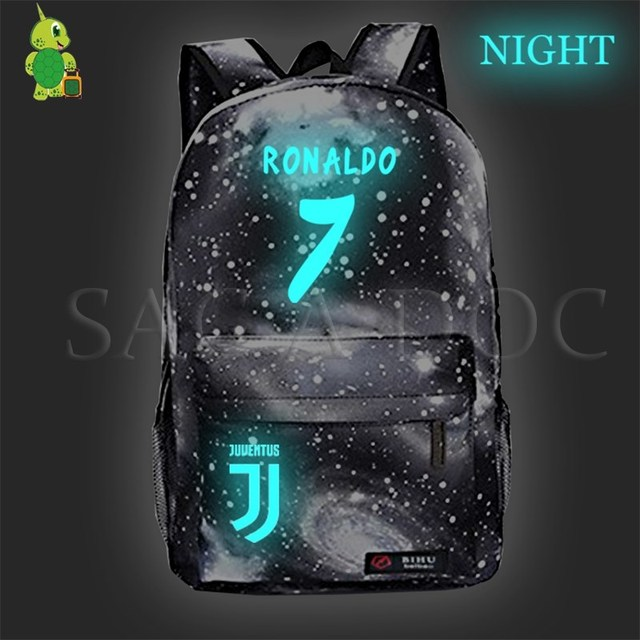 Cristiano Ronaldo CR7 Galaxy Luminous Backpack School Bags for Teenage  Girls Boys Travel Rucksack Children Book d6ff29652f814