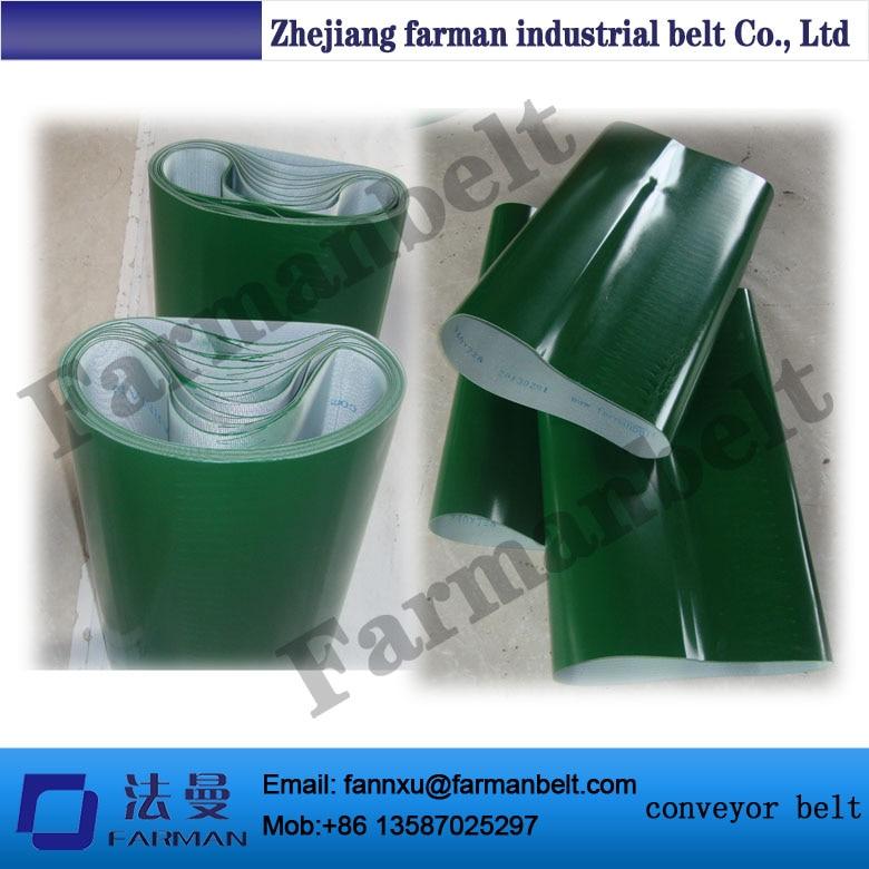 green flat glossy PVC conveyor belt цена