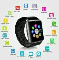 Sim Reloj Inteligente Tarjeta enchufable DEL TF Cámara de Pantalla Táctil Teléfono Pasómetro Aptitud Mensaje Recordar usable Smartwatch para iPhone para Android