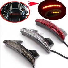 For 2004-2013 Harley Sportster XL883 1200 48 Custom Motorcycle Rear Fender Edge LED Tail + Turn Signal Light Smoke/Clear Lens(China)