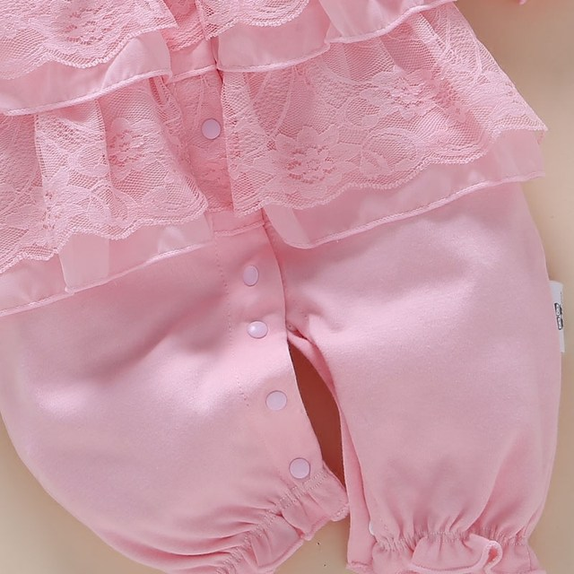 93544cab0ad Online Shop New Born Baby Girl Rompers Lace Outfit Clothes Set Age 0 ...