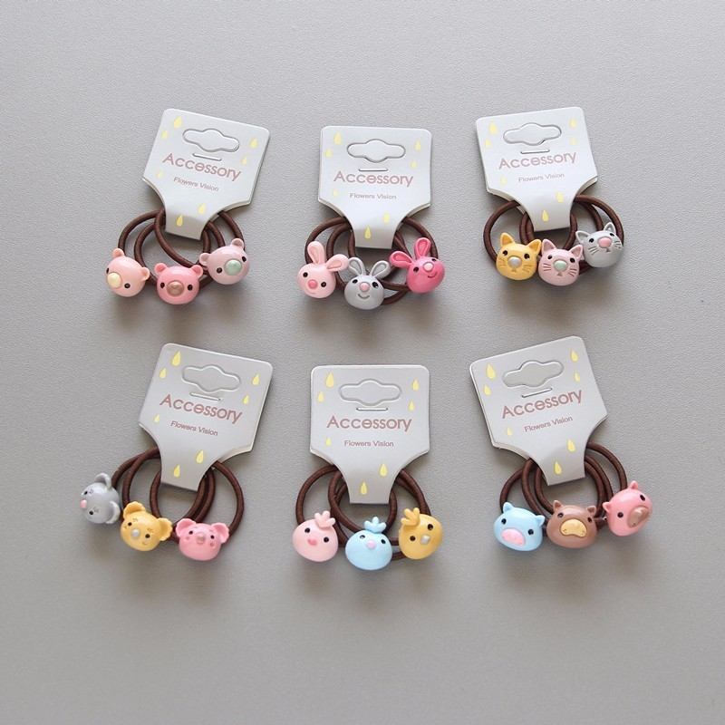 3 PCS New Cute Bird Koala Princess Headwear Kids Elastic Hair Bands Baby Headdress Children Hair Ropes Girls Hair Accessories