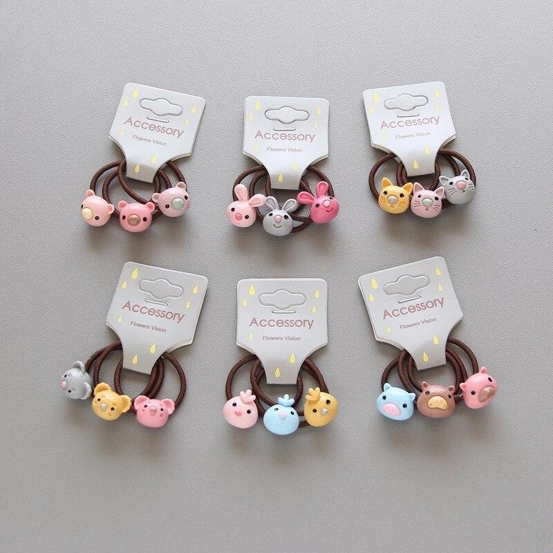 3 PCS New Cute Bird Koala Princess Headwear Kids Elastic Hair Bands Baby Headdress Children Hair Ropes Girls Hair Accessories