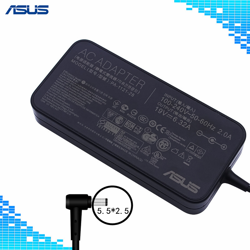 For Asus PA-1121-28 AC Power Charger For Asus N750 N55 19V 6.32A 120W 5.5*2.5 Laptop Adapter For Asus N750 N500 G50 N53S N55For Asus PA-1121-28 AC Power Charger For Asus N750 N55 19V 6.32A 120W 5.5*2.5 Laptop Adapter For Asus N750 N500 G50 N53S N55