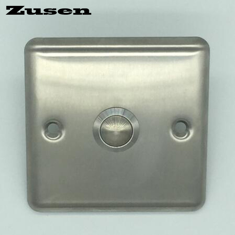 Zusen 19mm strength Door bell push button with panel button is stainless steel(China (