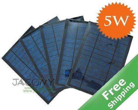Solar panel+ 5W/6V+polycrystalline solar cells+free shipping