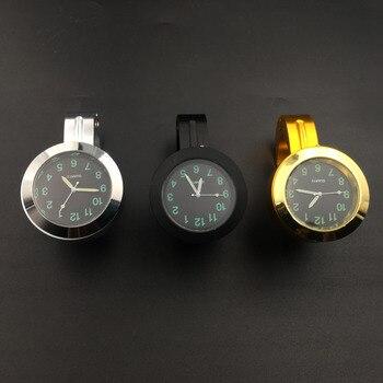 Montre étanche horloge vélo moto guidon noir/argent horloge Quartz montre pour Davidson Harley Honda Yamaha Kawasaki