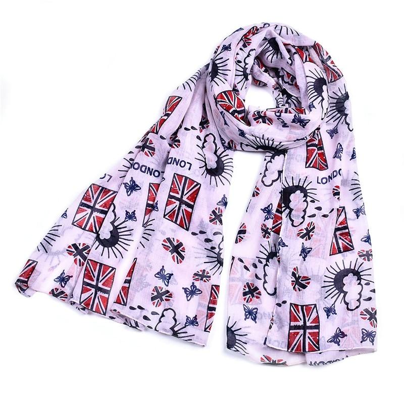 Vintage Britische Union Jack Schal UK Flag London Sun Cloud ...