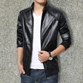 Leather jacket coat of cultivate one's youth favors pu leather motorcycle jacket