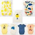 2016 bobo choses macacão de bebê menino roupas de bebê menina veste crianças de clothingbodysuit palhaço macho recém-nascido vestidos