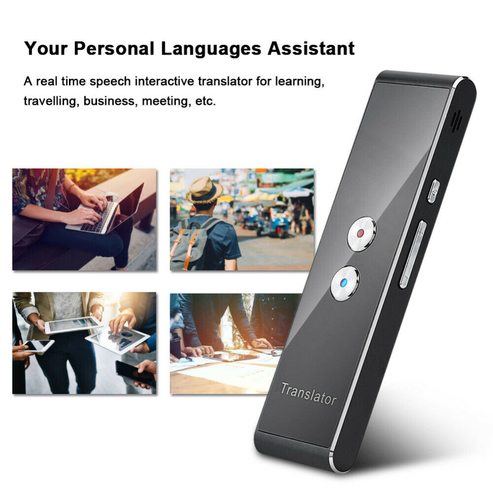 Portable Audio Video Smart Voice Translator Portable Two Way Real Time Multi Language Translation Compatible for iOS Android