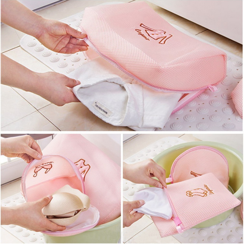 Underwear Laundry-Bag Washing-Machine Zippered Urijk Bra-Socks Mesh-Net Foldable Nylon title=