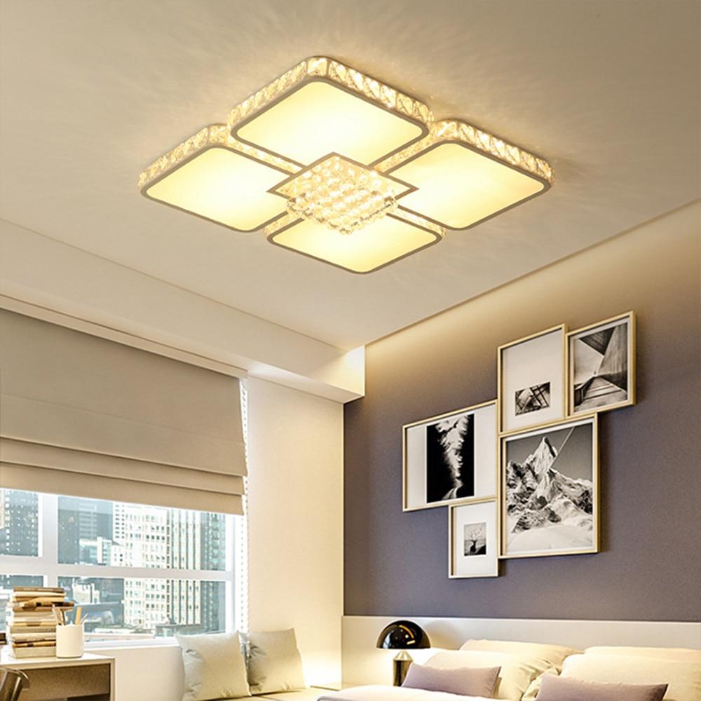 Crystal Ceiling Light Led Crystal Ceiling Light 110-220v Home Lighting Living Room Flush Mount Ceiling Light Lustre Luminaire