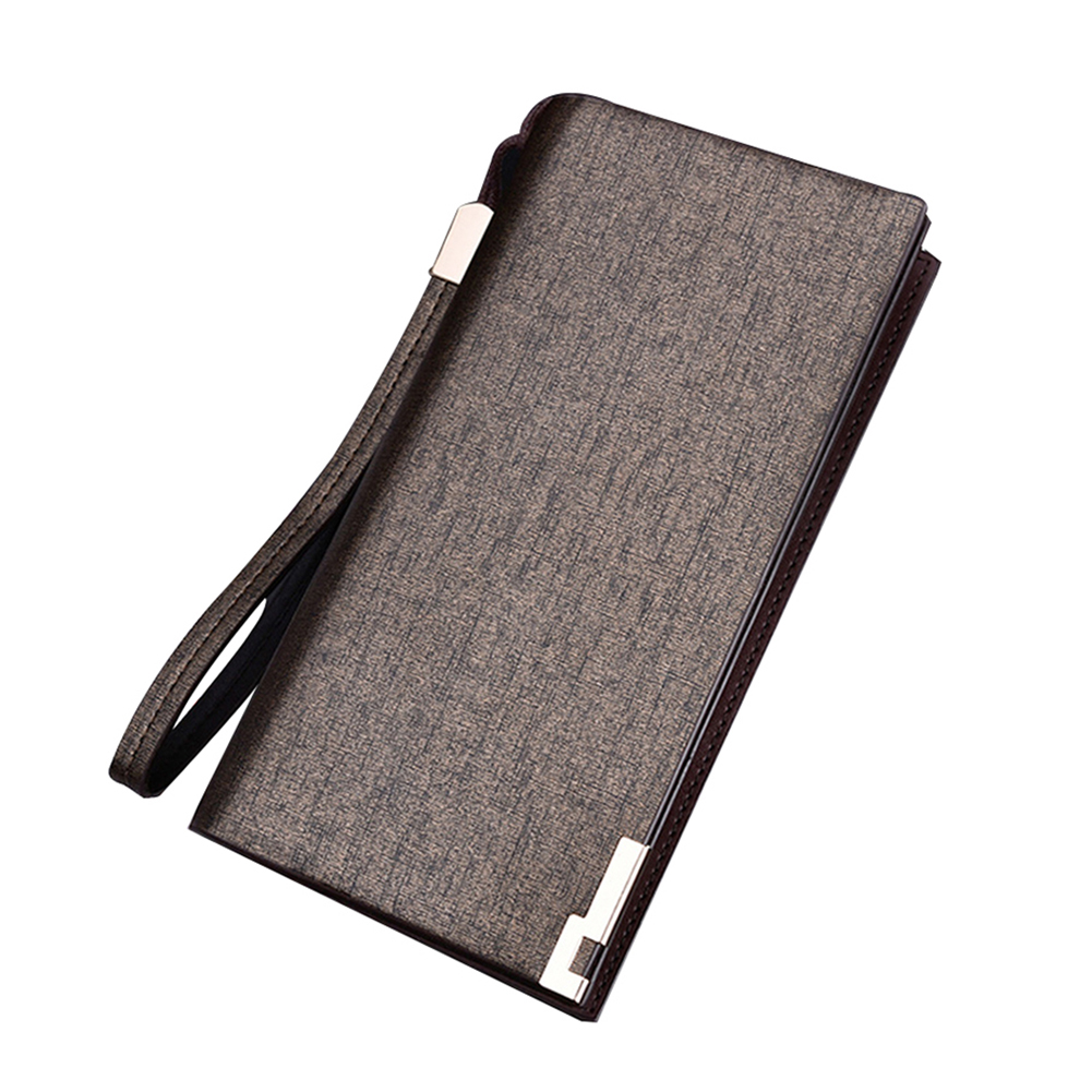 Mens Clutch Faux Leather Business Card Cash Holder Handbag Long Wallet Purse