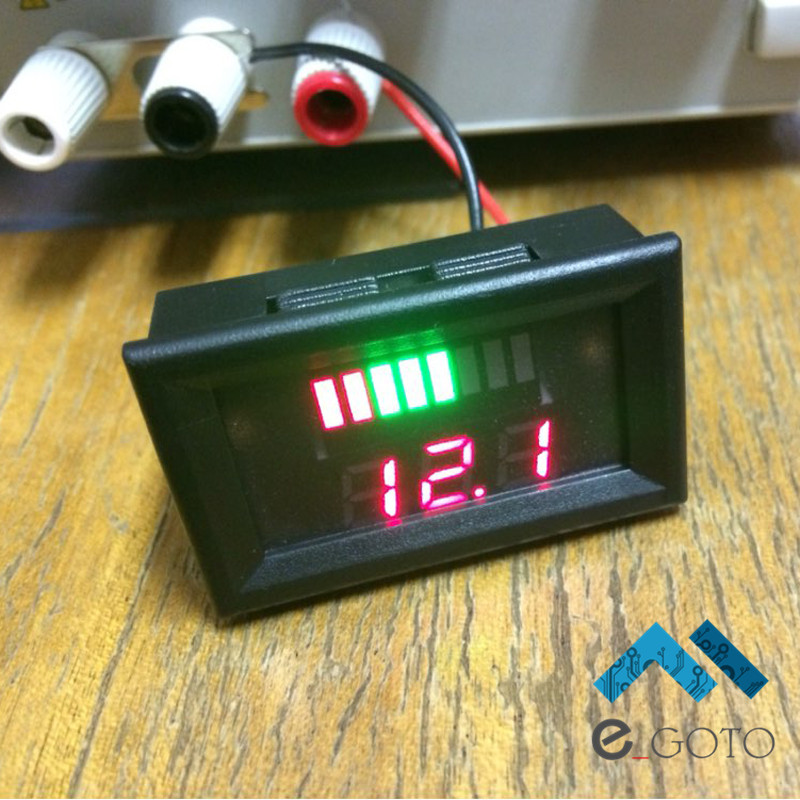 12V ACID Lead Battery Charge Level Indicator Red Digital Indicator Lead acid Capacity LED Tester Voltmeter