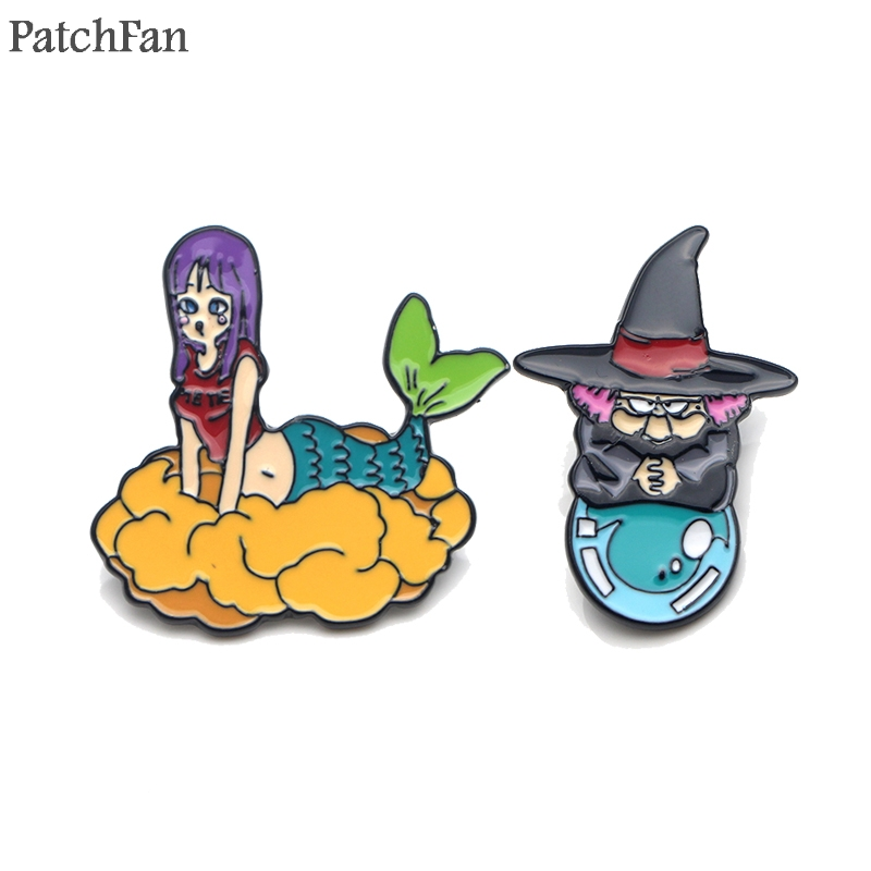 Charitable Patchfan Dragon Ball Mermaid Metal Zinc Enamel Pins Insignia Para Backpack Shirt Clothes Bag Brooches Badges For Men Women A1590 Badges Arts,crafts & Sewing