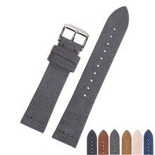 EACHE 18mm 20mm 22mm Watchband 100% Da Lộn Da Dây Đeo Đồng Hồ cho nam giới phụ nữ Xem ban nhạc