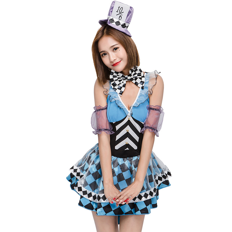 Halloween Alice in Wonderland Ladies Mad Hatter Costume Tea Party Book Day  Adult Outfit Fancy Dress-in Movie   TV costumes from Novelty   Special Use  on ... 01c2563344ca