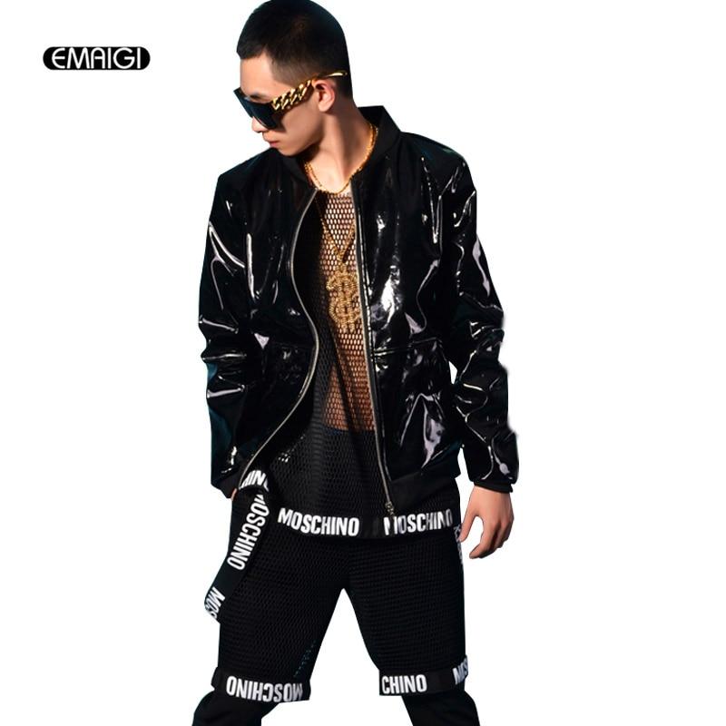 Mens Black Patent Leather Jacket Cairoamani Com