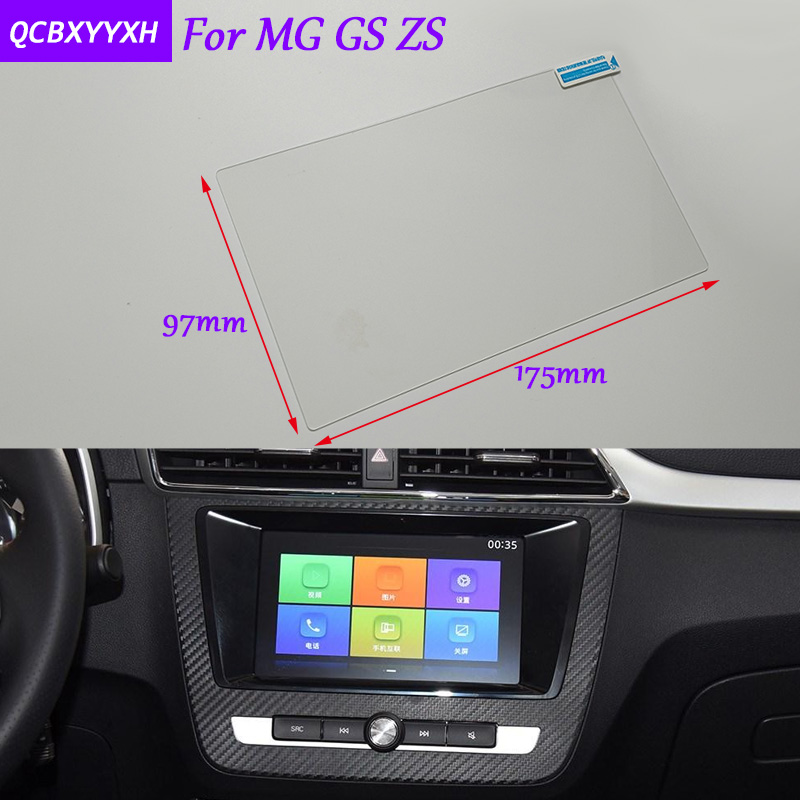 Car Styling 8 Inch GPS Navigation Screen Glass Protective Film Sticker For MG GS ZS Accessories Control of LCD Screen