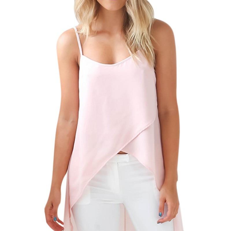 Sexy Wome Sleeveless Strap Blouse Sling Strap Chiffon Beach Robe Shirts Femme Vestidor ...