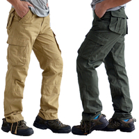 30-44 Plus size High Quality Men's Cargo Pants Casual Mens Pant Multi Pocket Military Overalls for Men Outdoors Long Trousers 6D