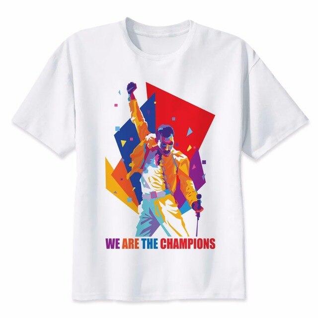 b43e612d5 Freddie Mercury Printed Funny T Shirt Hip Hop New 2018 Style Original  Design T-shirt Cool Fashion Man Women Tshirt