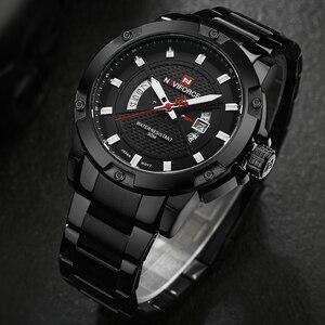 Image 5 - NAVIFORCE Top luksusowa marka mężczyźni sport zegarek męski Casual pełna stal zegarki na rękę z datownikiem męskie zegarki kwarcowe relogio masculino