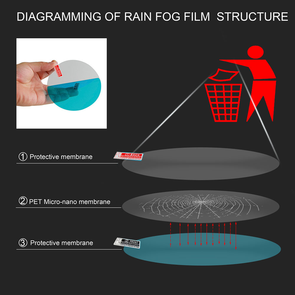 Image 4 - Car Rearview Mirror Rainproof Film For Renault Megane 3 Duster Clio Logan Trafic Skoda Octavia A7 A5 2 Rapid Fabia Kodiaq Superb-in Car Tax Disc Holders from Automobiles & Motorcycles