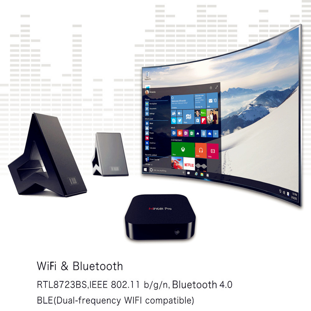 Windows10 TV BOX 2GB32GB WiFi Media Player IPTV Smart Box 1080p HD 4K  Capsule Intel Z8300 4cores 1 84GHz 64bit AH LINK USB Neotv-in Set-top Boxes  from