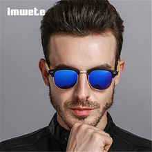 Imwete Retro Bamboo Sunglasses Men Women Wood Sunglass Original Brand Design Sport Goggles Mirror Wooden Sun Glasses Shades