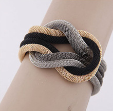 Free shipping Wholesale Jewelry Fashion Women vintage retro necklace Cheap Alloy Chain Chunky Bracelets & Bangles