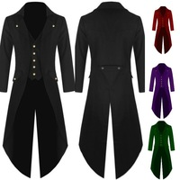 Mens Gothic Tailcoat Jacket Steampunk Trench Cosplay Costume Victorian Coat Black Long Coat Men S Tuxedo