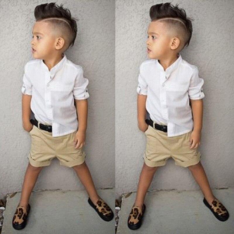 Baby Clothing Sets For Boy White T Shirt Jean Shorts 2pcs Kids Boy