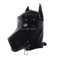 Fetish Slave Hond Maskers, geblinddoekt Verwijderbare Sexy Kap Masker Hoofdsteunen Bondage Sex Producten Voor Koppels Spelletjes Speelgoed