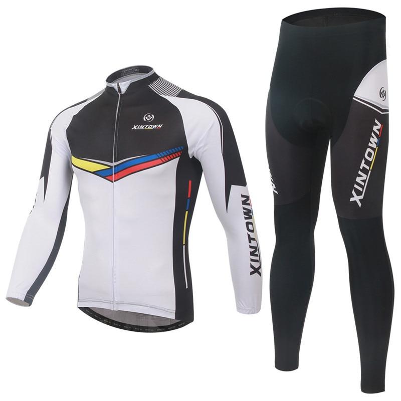 где купить Winter Cycling Team Mens XINTOWN Long Sleeve Cycling Jerseys Ropa Ciclismo Invierno/Super Warm Bicycle Clothing/Bike Sportswear дешево