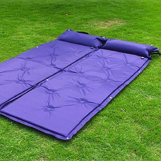 Outdoor Camping Mat Automatic Inflatable Mat Sleeping Pad Tent Air MattressWaterproof Dampproof mat with Pillow 186*60*2.5cm