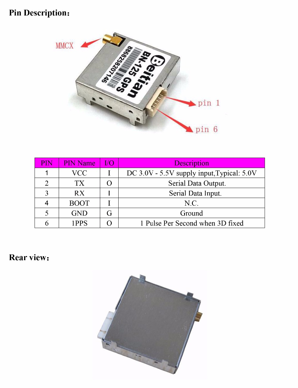 BN-125 GPS Module datasheet-3