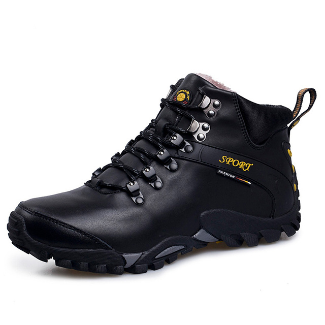 Winter Hiking Boots Man Winter Snow Boots Waterproof Mountain Climbing Shoes Outdoor Sports Sneakers for Camping Trekking Shoes