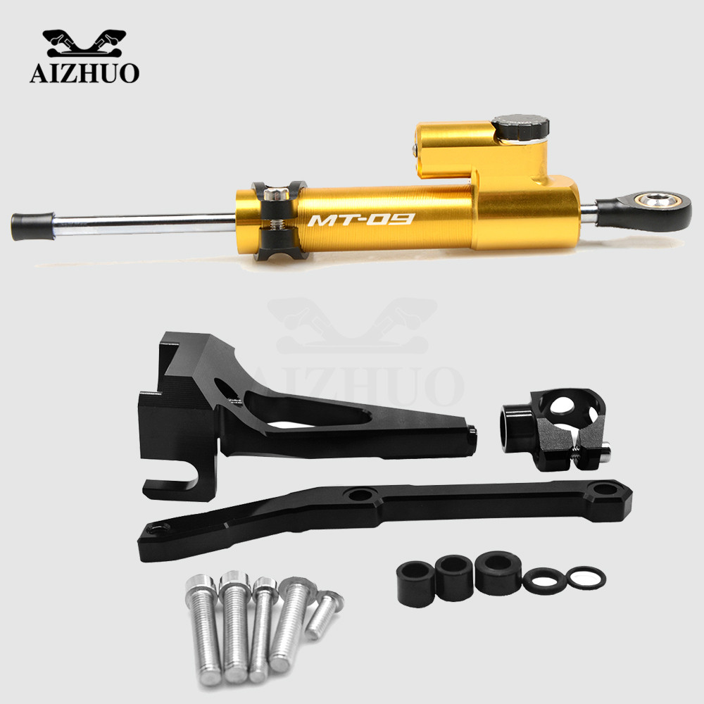 For Yamaha MT 09 MT09 MT-09 FZ09 FZ-09 2013- 2016 Motorcycle Damper Steering Stabilize Safety Control Bracket Mount kit