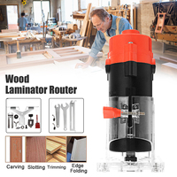 30000rpm Electric Hand Trimmer 800W Wood Router Laminate 6.35mm Small Copper Motor Carving Machine Woodworking DIY Power Tools
