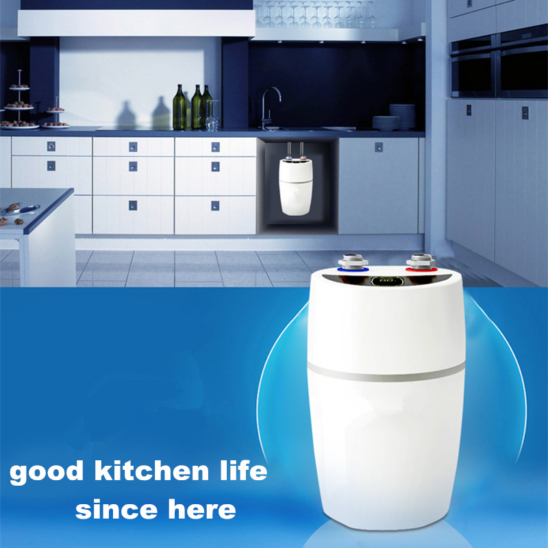 water heater 2200w instant electric rapid tank bathroom kitchen undersink hot faucet running flowthrough
