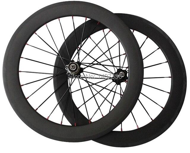 "cheap price free shipping carbon 20"" bmx road bike clincher wheel 451"